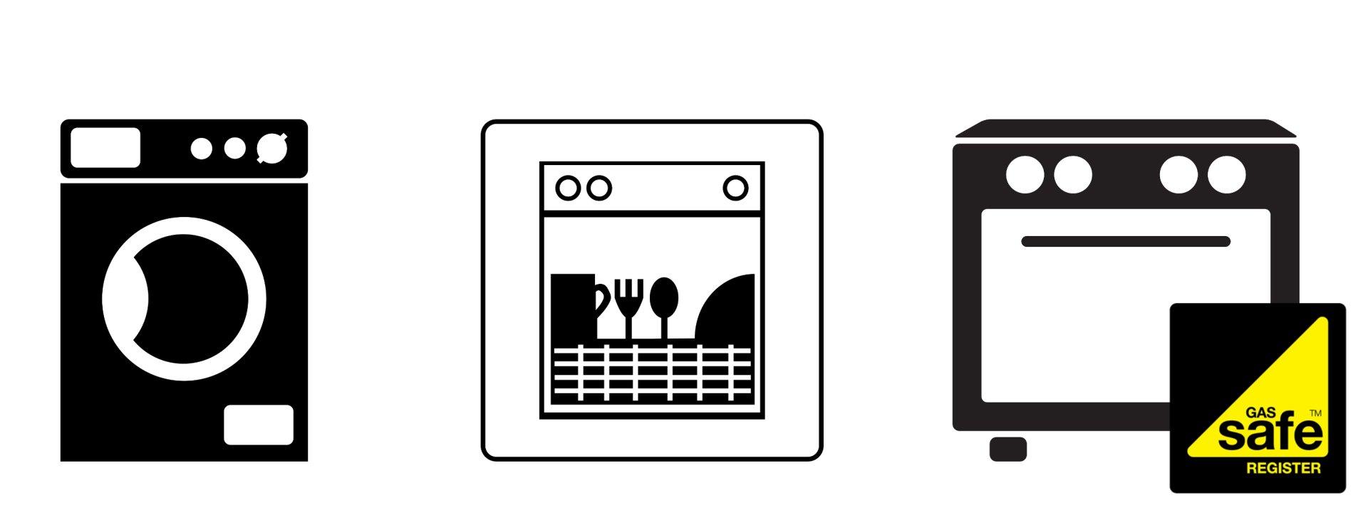 Low-cost oven repairs, Dishwasher repairs, Washing machine
