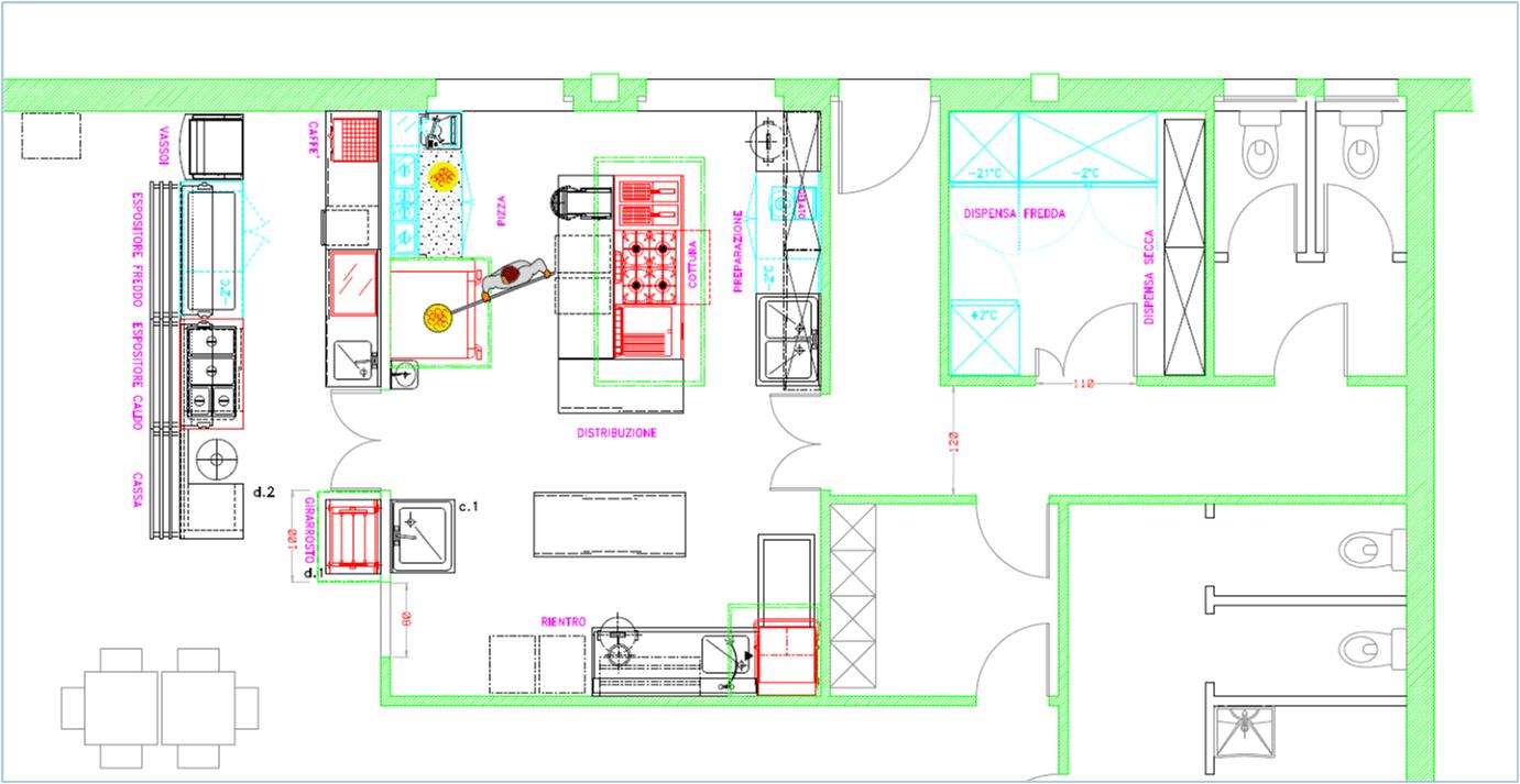 Emejing Layout Cucina Ristorante Photos  Home Interior Ideas  hollerbachus