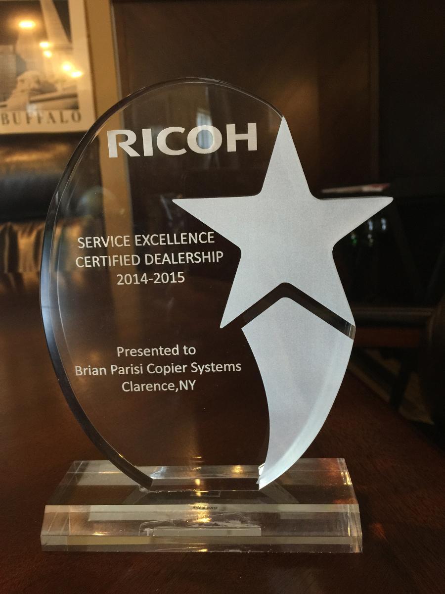 Awards  Brian Parisi Copier Systems Inc Serving Williamsville Rochester Buffalo  Henrietta NY