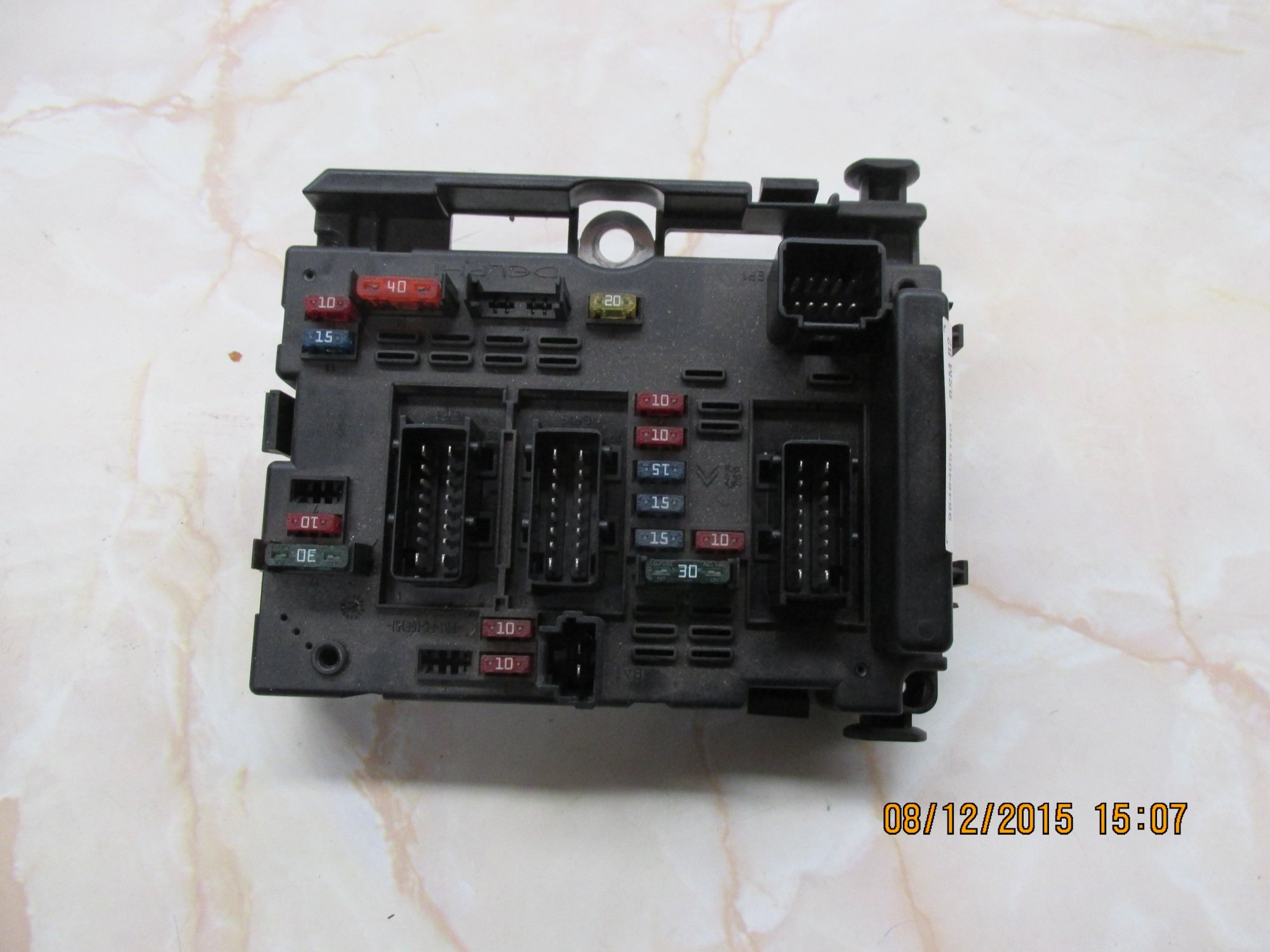 hight resolution of p307 fuse box front view