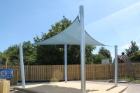 Shade sail design & installation in Kent & South East London
