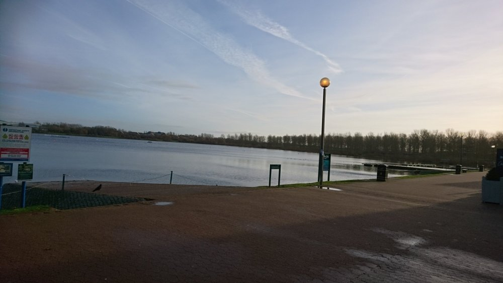 The view across Willen Lake