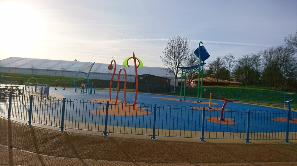 The splash park at Willen Lake | Milton Keynes | Buckinghamshire