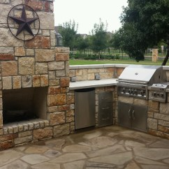 Outdoor Kitchen With Fireplace Cost To Renovate A Custom Masonry Design And Installation Georgetown Tx Jc
