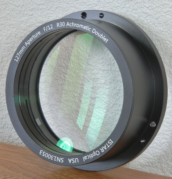 5-inch (127 mm) aperture achromatic doublet objective lens by I R Poyser
