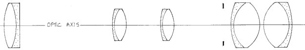 Diagram 7 - the layout of a practical telescope
