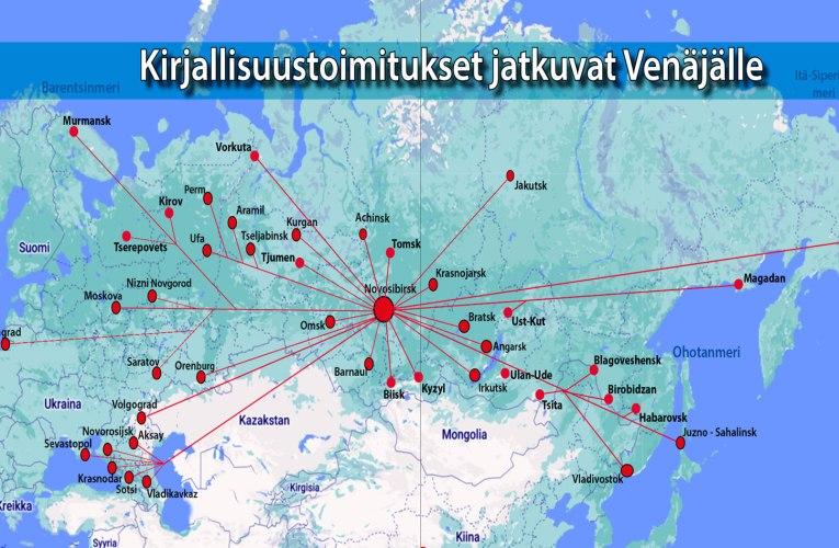 250 000 kirjan lisäpainos jakelussa Venäjällä