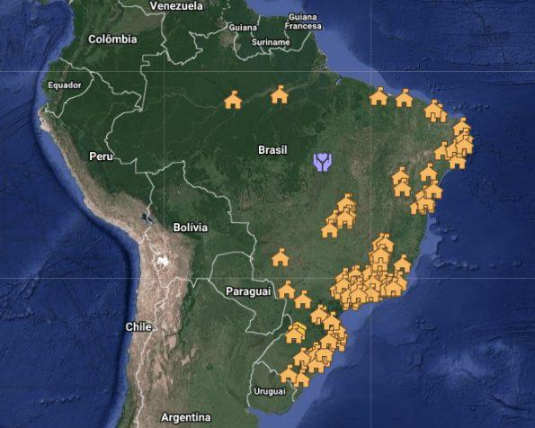 Mapa de Ecovilas do Brasil