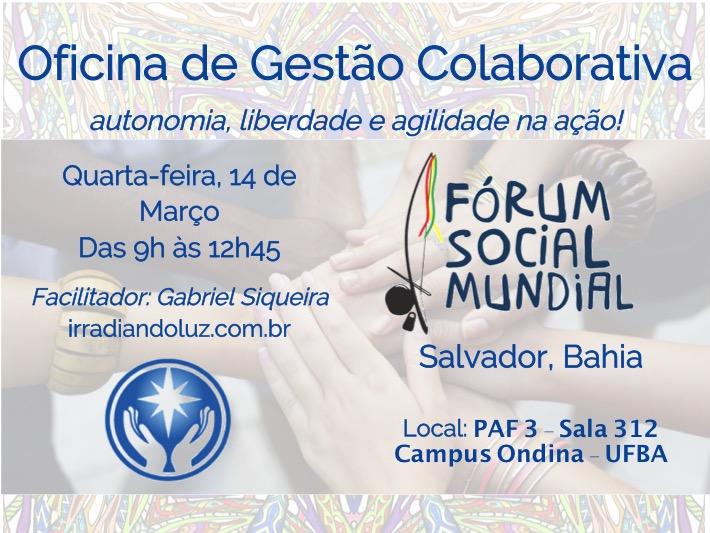 Gestao Colaborativa Forum Social Mundial 2018