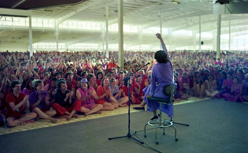 Ma Anand Sheela no palco
