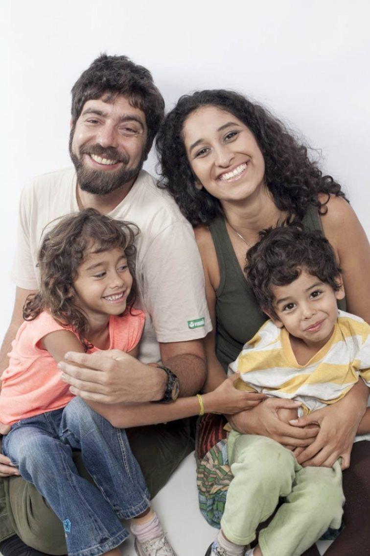 Família Irradiando Luz