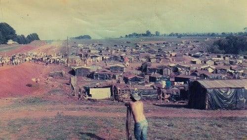 Ocupação dos Sem Terra na encruzilhada Natalício, RS