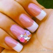 irresistible nails pink & white