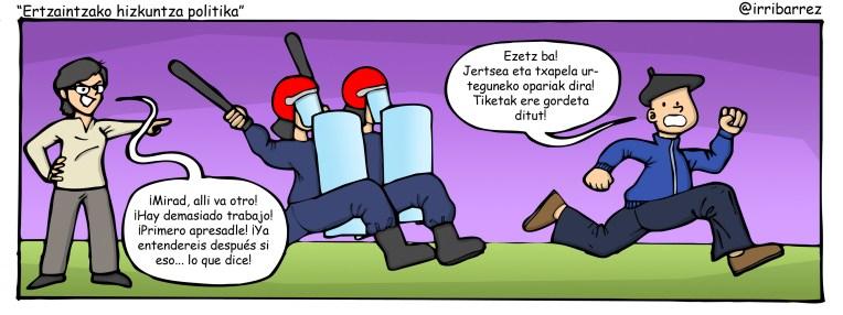 Ertzaintzako hizkuntza politika