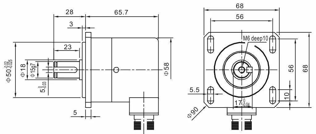 ISL5809 High Shock Flange Adapters Encoder, China high