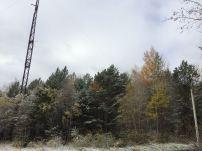 Schnee auf dem Weg nach Baikalsk.