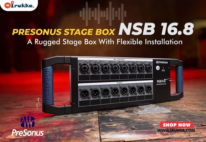 PreSonus Stage Box NSB 16.8 A Rugged Stage Box With Flexible Installation