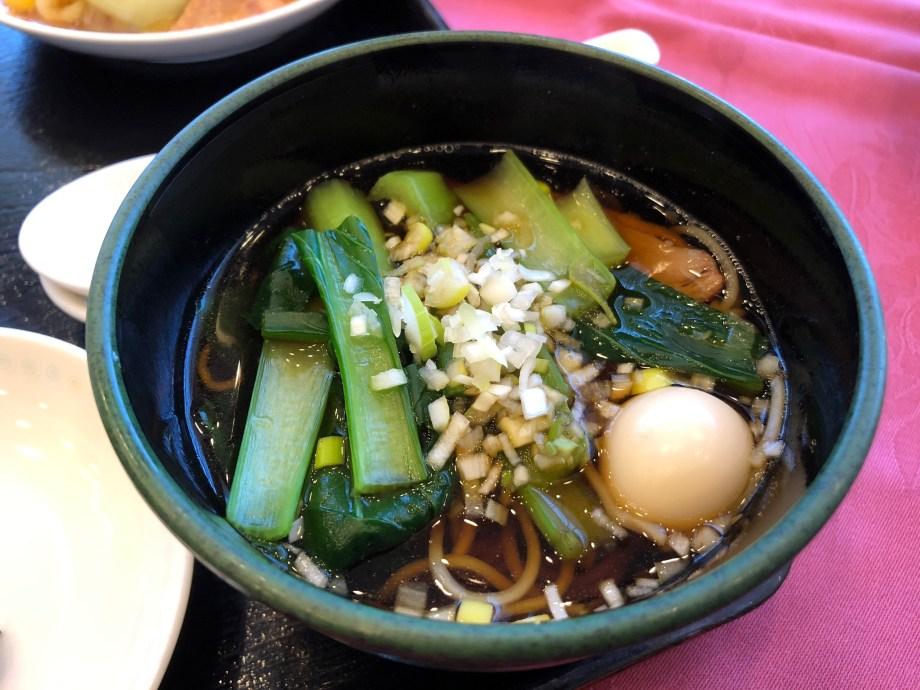 埼玉県飯能市のホテルマロウドインの中華料理の醤油ラーメン