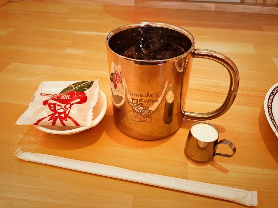 入間市のコメダ珈琲店のアイスコーヒー