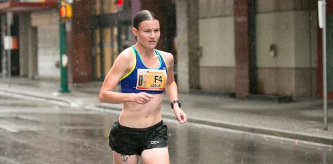 "Leslie Sexton: ""I want to empower girls to become strong athletes and lifelong runners. This isn't possible if their opportunities are limited during their teenage and young adult years."" Image via Canada Running Series."