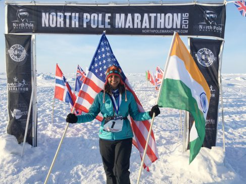 Shilpa Abbitt of Edmond has run 100 marathons, including the North Pole Marathon. Image via NewsOK.