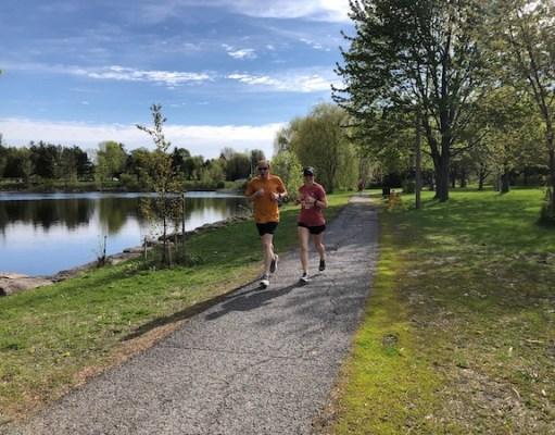 Kanata park run at the scenic Beaver Pond Trail