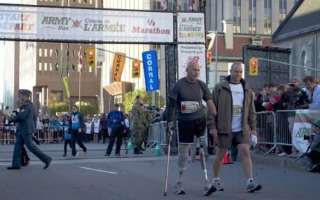 Bryan Currier (left) winner of the 2012 'Why Do You Run Canada Army Run' contest. Photo: Canada Army Run
