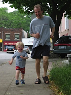 Cole and Dad Starting Running June 2004