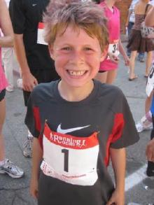 Cole in his Running Gear