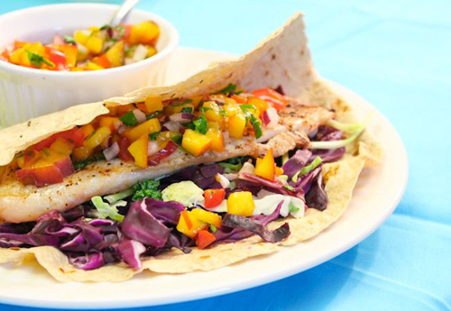 Grilled Tilapia Taco with Nectarine Salsa 2