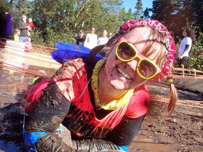 Tammy at Mud Crawl