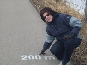Me at a marker and a scenic route!