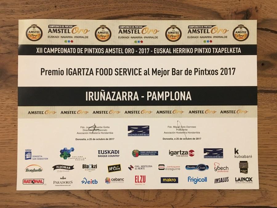 XII Campeonato de Pintxos Amstel Oro 2017
