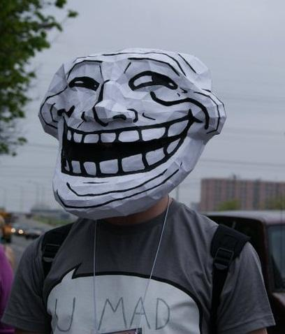 Irti Funny Picture 816 Tags Trollface Mask Paper