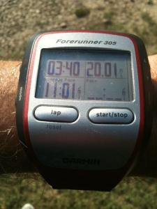 20 mile marathon training run