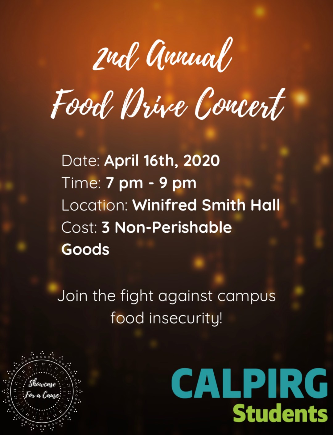 CALPIRG Food Drive Concert at UCI