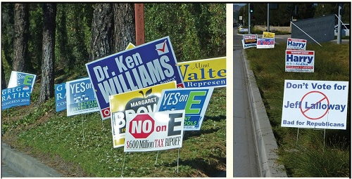 Is Political Sign Pollution the New Normal for Irvine?