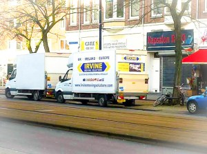 One of our Luton vans assisiting a family moving to Europe