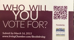 Best in Irving - who will you vote for?