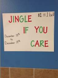 Jingle If You Care sign