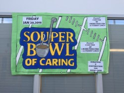 Souper Bowl of Caring sign at Singley Academy