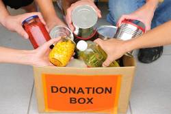 canned food donation box