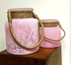 Pink Tea Light Lanterns