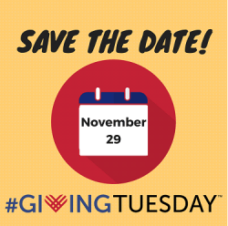 Save the date #GivingTuesday is Nov. 29 2016