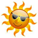 cartoon sun with sunglasses