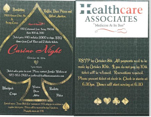 Casino Night on 10-18-14