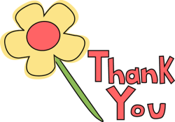 Thank you with flower