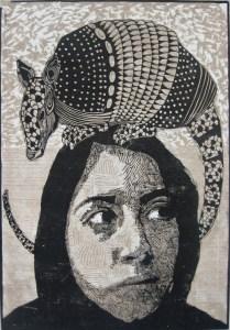 ARMADILLO NEGRO-100cm x 70cm, xilografia-2010