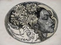BEKU, Xilografia, 28cm x 38cm, 2014