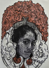 CONVERSO I, Xilografia, 76cm x 56cm, 2014